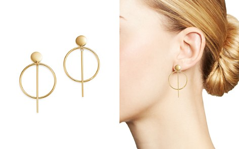 Bloomingdale's Circle and Bar Hoop Earrings in 14K Yellow Gold - 100% Exclusive_2