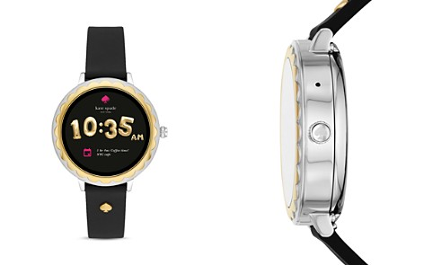 kate spade new york Scalloped Touchscreen Black Strap Smartwatch, 41mm - Bloomingdale's_2