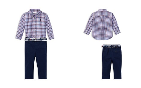 Ralph Lauren Boys' Plaid Shirt & Belted Chinos Set - Baby - Bloomingdale's_2