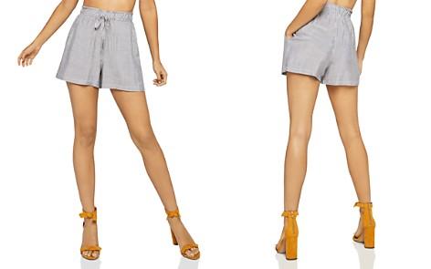 BCBGeneration Striped Paperbag-Waist Shorts - Bloomingdale's_2