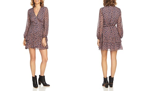 1.STATE Ditsy Drift Ruffled Wrap Dress - Bloomingdale's_2