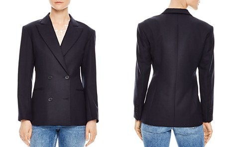 Sandro Smart Double-Breasted Blazer - Bloomingdale's_2