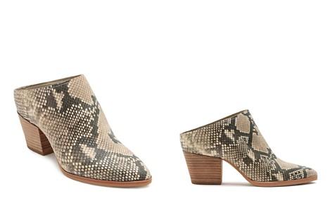Dolce Vita Women's Roya Almond Toe Snakeskin-Embossed Leather Mid-Heel Mules - Bloomingdale's_2