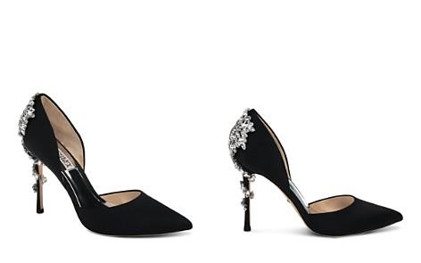 Badgley Mischka Women's Vogue Pointed Toe Satin High-Heel Pumps - Bloomingdale's_2