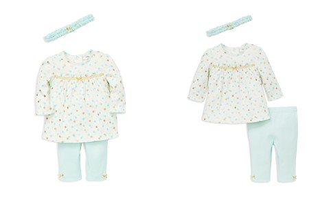Little Me Girls' Dotted Tunic & Leggings Set with Headband - Baby - Bloomingdale's_2