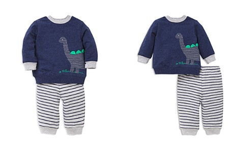 Little Me Boys' French Terry Dino Sweatshirt & Striped Jogger Pants Set - Baby - Bloomingdale's_2