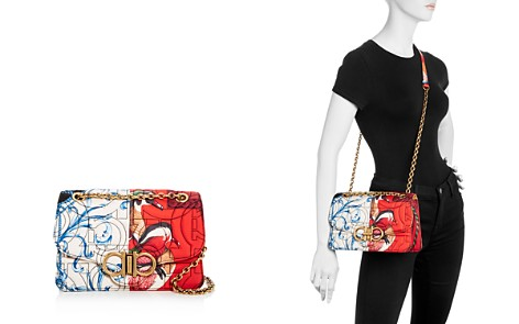 Salvatore Ferragamo Gancini-Quilted Foulard Print Shoulder Bag - Bloomingdale's_2