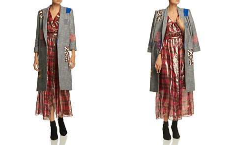 Alice + Olivia Kylie Patchwork Plaid Jacket - Bloomingdale's_2