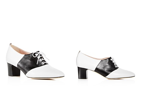 SJP by Sarah Jessica Parker Women's Olivia Leather Block-Heel Oxfords - Bloomingdale's_2