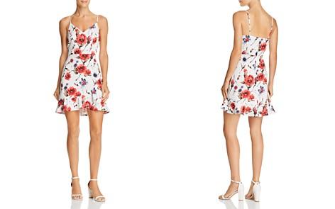 AQUA Floral Ruffle-Hem V-Neck Dress - 100% Exclusive - Bloomingdale's_2