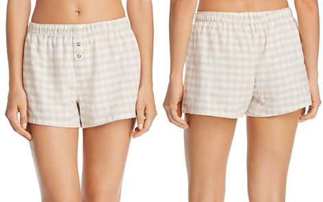 PJ Salvage Lazy Days Gingham Cotton Twill PJ Shorts - Bloomingdale's_2