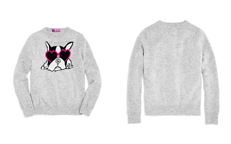 AQUA Girls' French Bulldog Cashmere Sweater, Big Kid - 100% Exclusive - Bloomingdale's_2