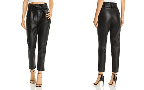 Lucy Paris Faux Leather Paperbag-Waist Pants - Bloomingdale's_2