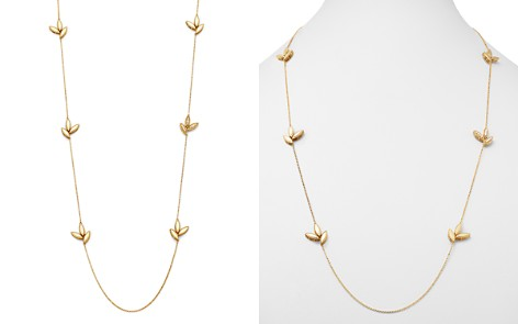 "Roberto Coin 18K Yellow Gold Diamond Petals Diamond Necklace, 31"" - 100% Exclusive - Bloomingdale's_2"