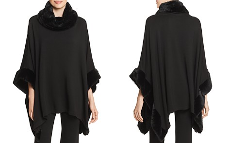 Capote Faux-Fur Trimmed Poncho - Bloomingdale's_2