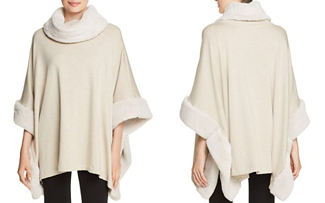 Capote Sian Faux-Fur Trimmed Poncho - Bloomingdale's_2