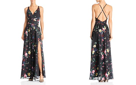 Laundry by Shelli Segal Cross-Strap Floral Gown - 100% Exclusive - Bloomingdale's_2