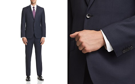 BOSS Micro-Houndstooth Johnstons/Lenon Regular Fit Wool Suit - 100% Exclusive - Bloomingdale's_2