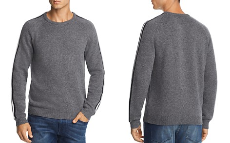 The Men's Store at Bloomingdale's Stripe-Trimmed Merino Wool Sweater - 100% Exclusive_2
