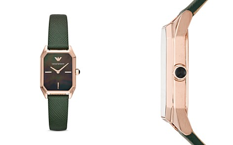 Emporio Armani Mother-of-Pearl & Green Leather Strap Watch, 24mm x 36mm - Bloomingdale's_2