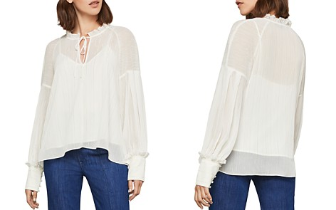 BCBGMAXAZRIA Metallic-Stripe Top - Bloomingdale's_2