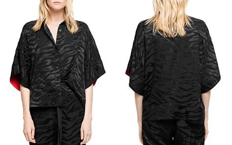 Zadig & Voltaire Topaz Silk Jacquard Tigre Shirt - Bloomingdale's_2