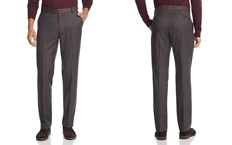 The Men's Store at Bloomingdale's Tonal Check Classic Fit Dress Pants - 100% Exclusive_2