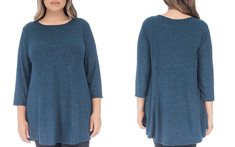 B Collection by Bobeau Curvy Brushed High/Low Tunic Top - Bloomingdale's_2