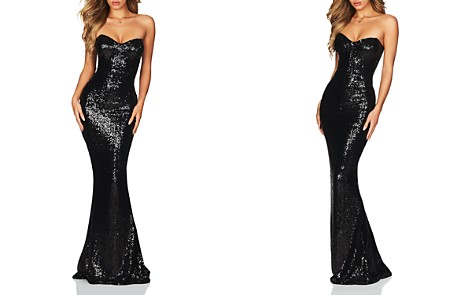 Nookie Spellbound Strapless Sequin Gown - Bloomingdale's_2