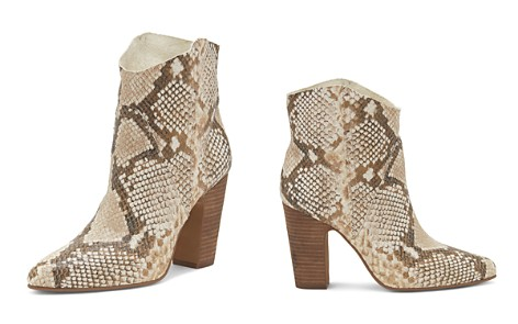 VINCE CAMUTO Women's Creestal Almond Toe Snakeskin-Embossed Leather Booties - Bloomingdale's_2