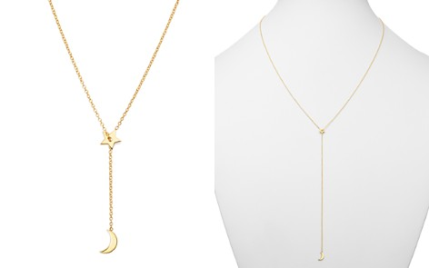 "Zoë Chicco 14K Yellow Gold Midi Bitty Sliding Star & Moon Lariat Necklace, 27.5"" - Bloomingdale's_2"