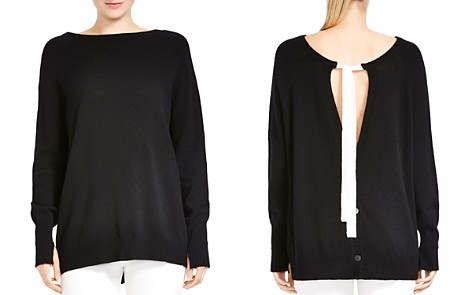HALSTON HERITAGE Merino Wool & Cashmere Tie-Back Sweater - Bloomingdale's_2
