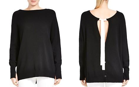 HALSTON HERITAGE Merino Wool & Cashmere Tie-Back Sweater - Bloomingdale's_2