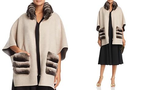 Maximilian Furs Chinchilla Fur Trim Cape - 100% Exclusive - Bloomingdale's_2