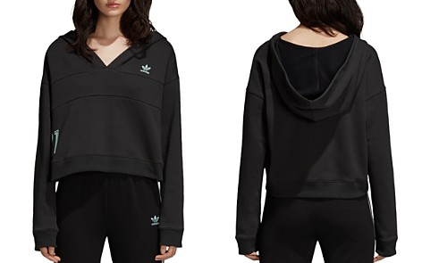 adidas Originals Cropped Hooded Sweatshirt - Bloomingdale's_2