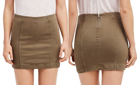 Free People Seamed Mini Skirt - Bloomingdale's_2