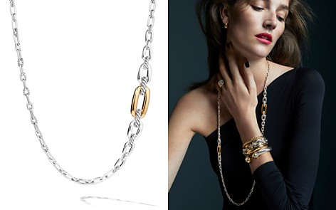 "David Yurman Wellesley Link Long Necklace in Sterling Silver with 18K Yellow Gold, 36"" - Bloomingdale's_2"