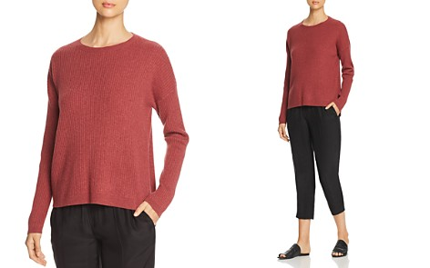 Eileen Fisher Petites Ribbed Cashmere Sweater - Bloomingdale's_2