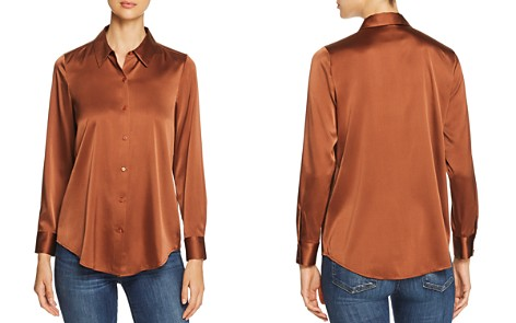 Eileen Fisher Petites Charmeuse Button-Down Top - Bloomingdale's_2