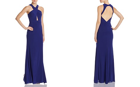AQUA Cross-Front Open-Back Gown - 100% Exclusive - Bloomingdale's_2