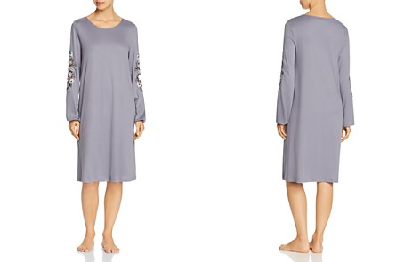 Hanro Jana Embroidered Long Sleeve Cotton Gown - Bloomingdale's_2