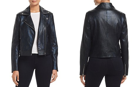 Bagatelle Snake-Embossed Moto Jacket - Bloomingdale's_2