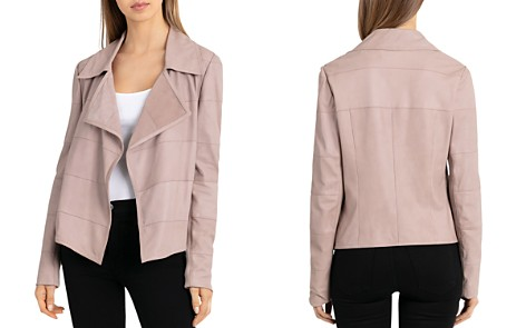 Bagatelle Suede Channel-Stitched Open Jacket - Bloomingdale's_2
