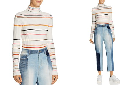 SJYP Striped Turtleneck Sweater - Bloomingdale's_2