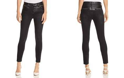 Current/Elliott The Fused High-Rise Stiletto Jeans in Rocco With Leather Piecing - Bloomingdale's_2