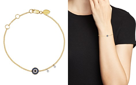 Meira T 14K Yellow Gold & 14K White Gold Blue Sapphire & Diamond Evil Eye Bracelet - Bloomingdale's_2