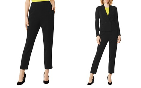 KAREN MILLEN Button Detail Slim Ankle Pants - Bloomingdale's_2