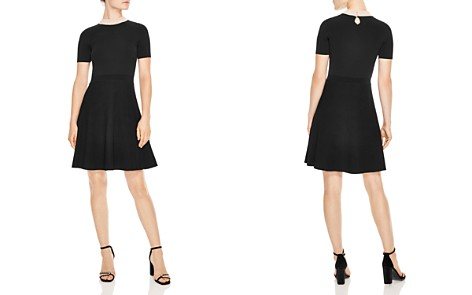 Sandro Luigi Embellished Collar & Ribbed Skirt Dress - Bloomingdale's_2