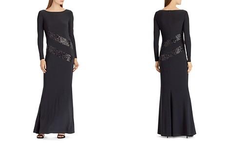 Lauren Ralph Lauren Sequin-Trim Jersey Gown - Bloomingdale's_2