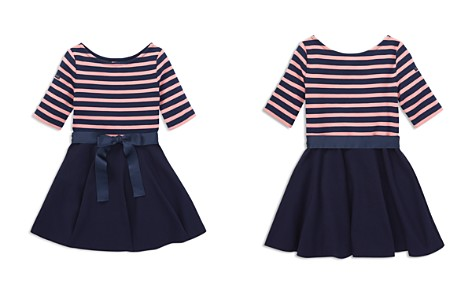 Polo Ralph Lauren Girls' Striped Bow Dress & Bloomers Set - Little Kid - Bloomingdale's_2